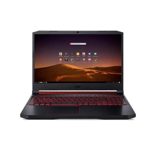 Notebook Gamer Aspire Nitro 5 AN517-51-78YY Intel Core I7 8GB 512GB SSD GTX 1650 17,3' Endless OS - Preto+Vermelho
