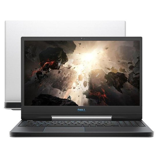"Notebook Gamer Dell G5-5590-A70B Intel Core i7 - 16GB 512GB SSD 15,6"" NVIDIA GTX 1660 Ti 6GB - Branco"