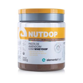 Nutdop Pasta de Amendoim Proteica Café Mocha 500g Elemento Puro