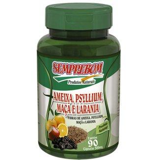Nutricosmético Ameixa, Psylium, Maçã e Laranja - Semprebom - 90 caps - 500 mg