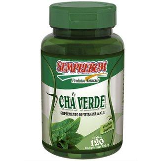 Nutricosmético Chá Verde - Semprebom - 120 cap - 400 mg