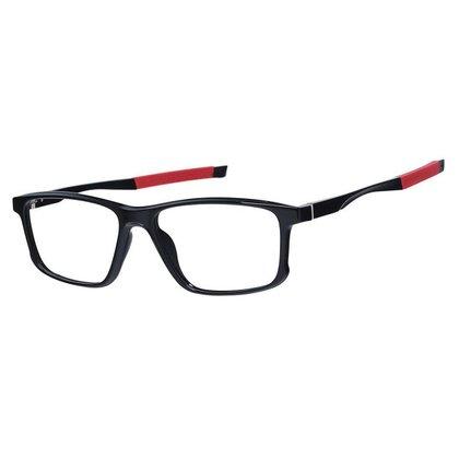 Óculos Armação Grau Esportivo Quadrado Masculino Vermelho Izaker 1268