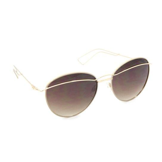 Óculos Bijoulux de Sol com Lente - Marrom