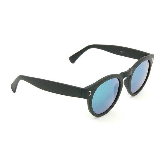 Óculos Bijoulux de Sol  Espelhado - Preto+Azul