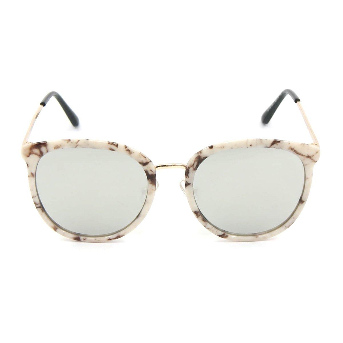 358da7c01ddf7 Óculos Bijoulux de Sol Marmorizado com Lente Espelhada - Compre ...