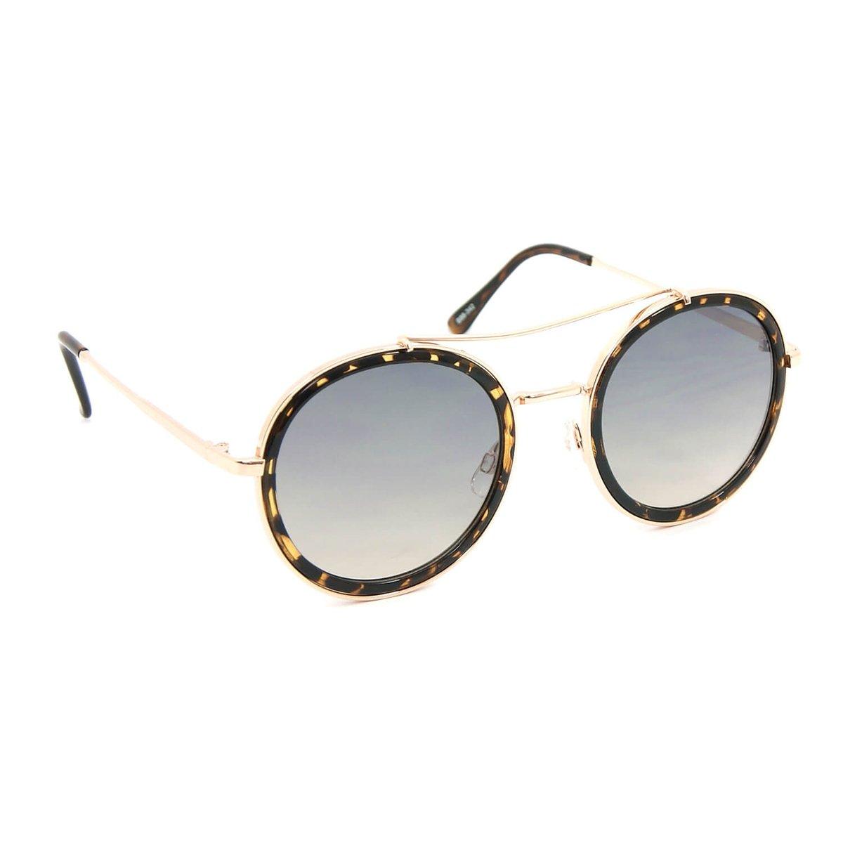 Óculos Bijoulux de Sol Tigrado - Dourado e Marrom - Compre Agora ... 0e866dab0e