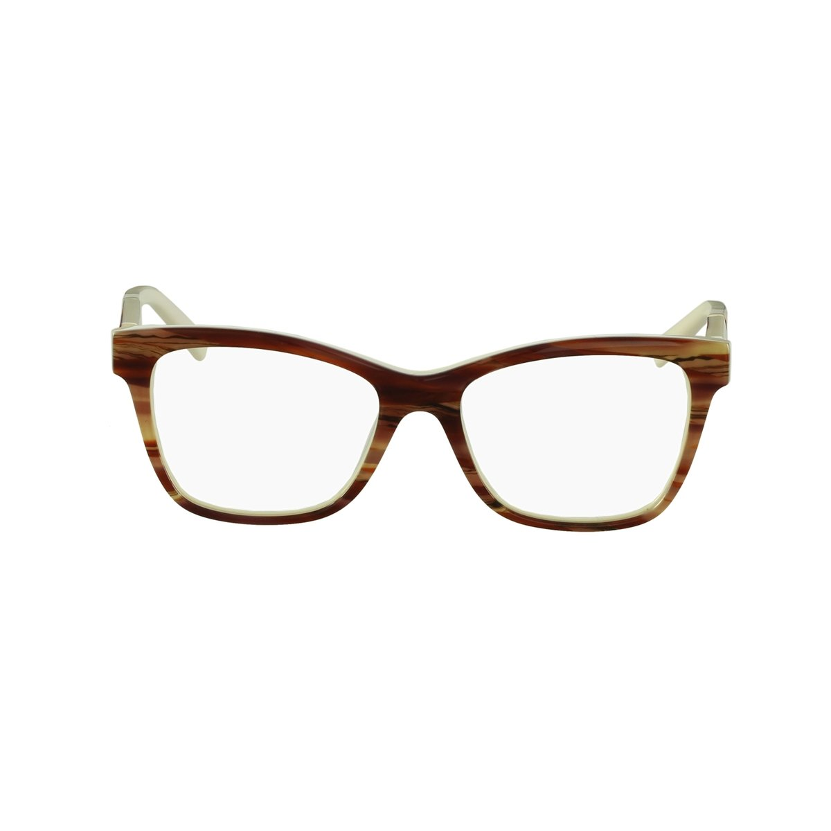 36c1aba5f8f17 Armação redonda para óculos de grau preta em acetato com haste dourada