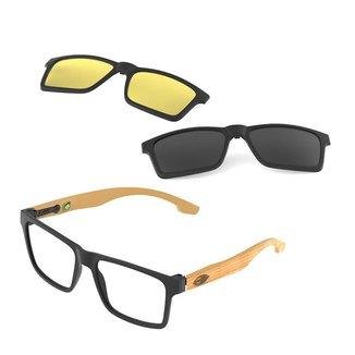 Óculos de grau Mormaii swap clip on fosco