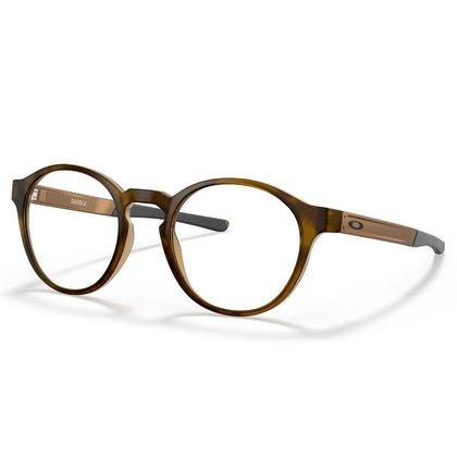 Óculos de Grau Oakley Saddle Satin Brown Tortoise Titanium
