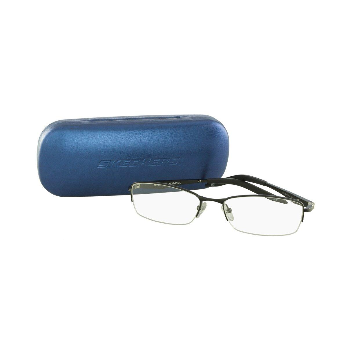 45366ec434ac7 Óculos de Grau Unissex Skechers Casual Preto - Preto - Compre Agora ...