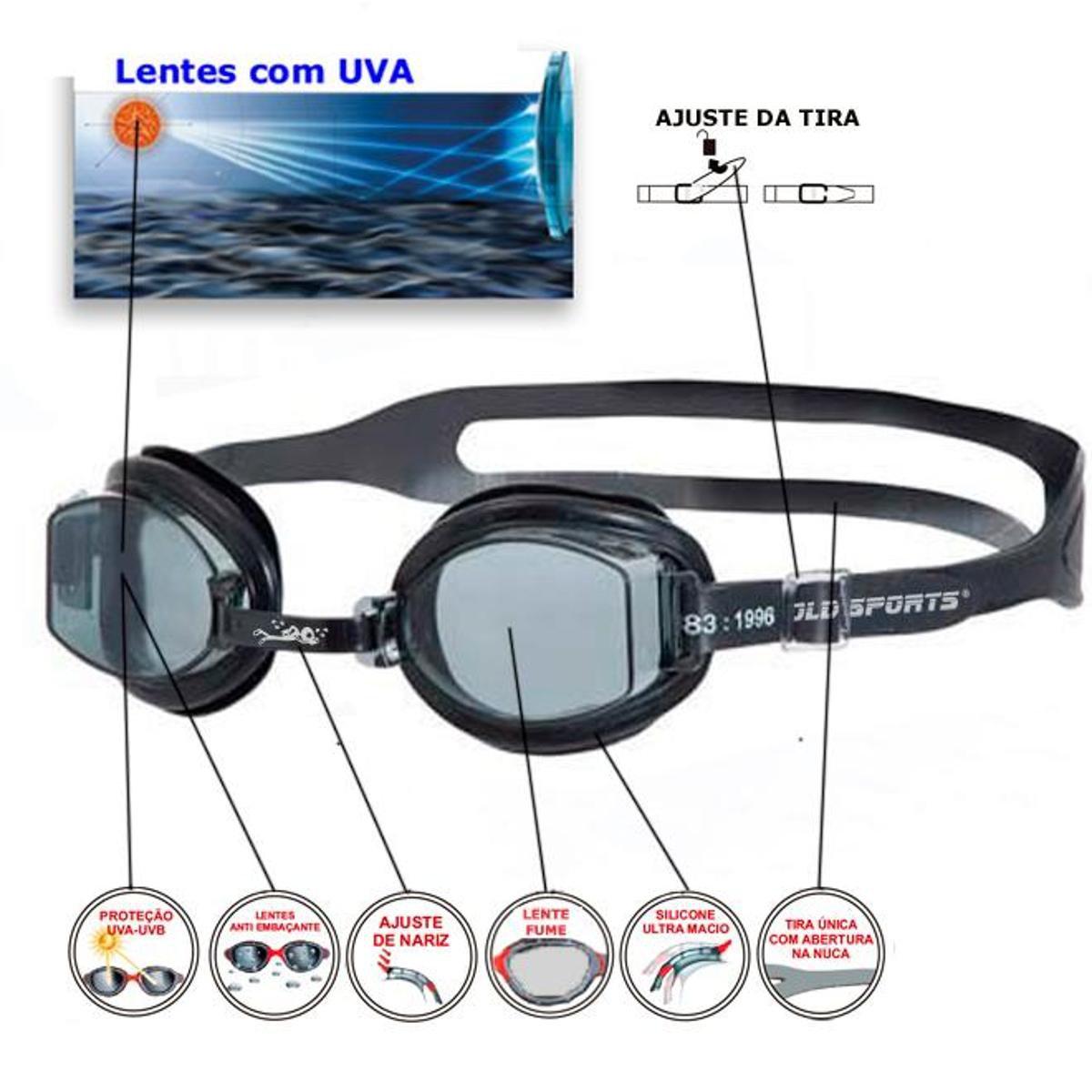 f4f8ff08419a4 Óculos De Natação Gold Sports Junior Splash - Preto - Compre Agora ...