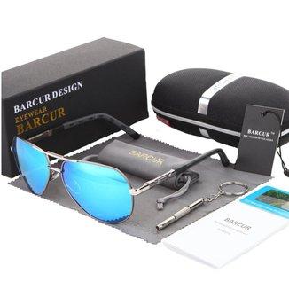 Óculos de Sol Aviador Barcur Masculino com Lente Polarizada UV400 - 8768