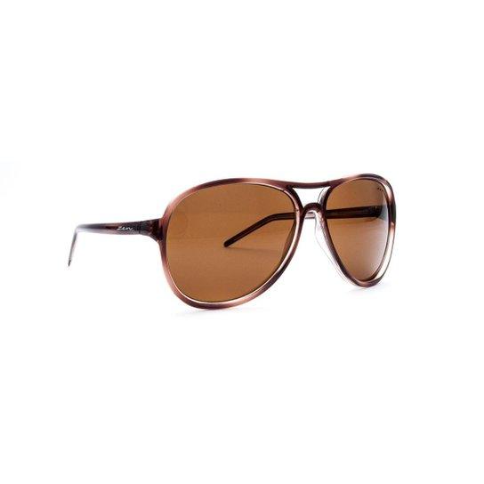 Óculos de Sol Aviador Zen 52543 C3 - Marrom Claro