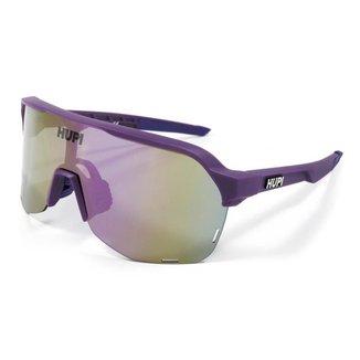 Óculos de Sol Bike e Corrida Hupi Huez Roxo - Lente Roxo Espelhado
