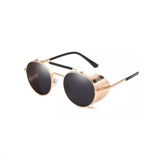 Óculos de Sol CHIC PARIS Alok Redondo Dourado