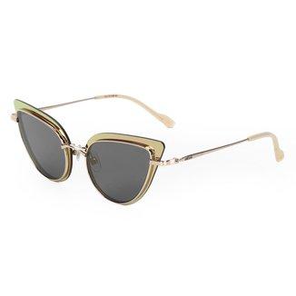 Óculos De Sol Colcci C0119 Dourado Brilho Marfim/L Marrom Feminino