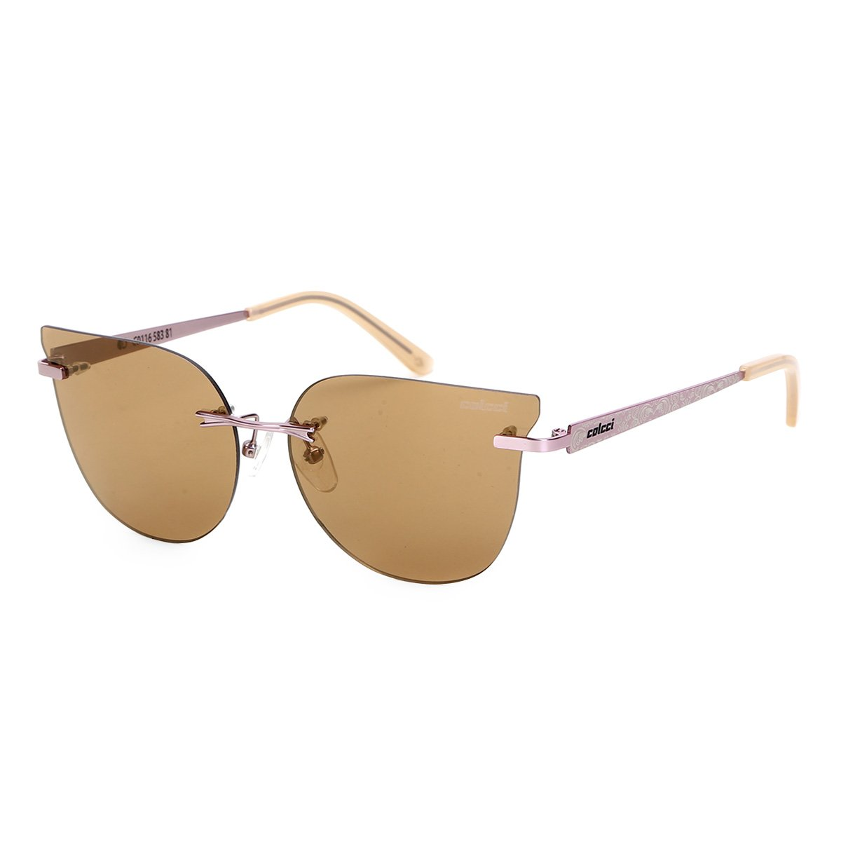a272d7426 Óculos de Sol Colcci Espelhado C0116 Feminino - Rosa e Marrom - Compre Agora  | Netshoes