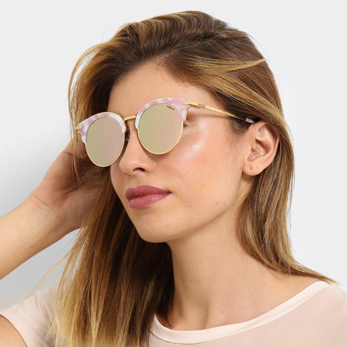 Óculos de Sol Colcci Gatinho Brilho Feminino - Compre Agora   Netshoes 3b469305ba
