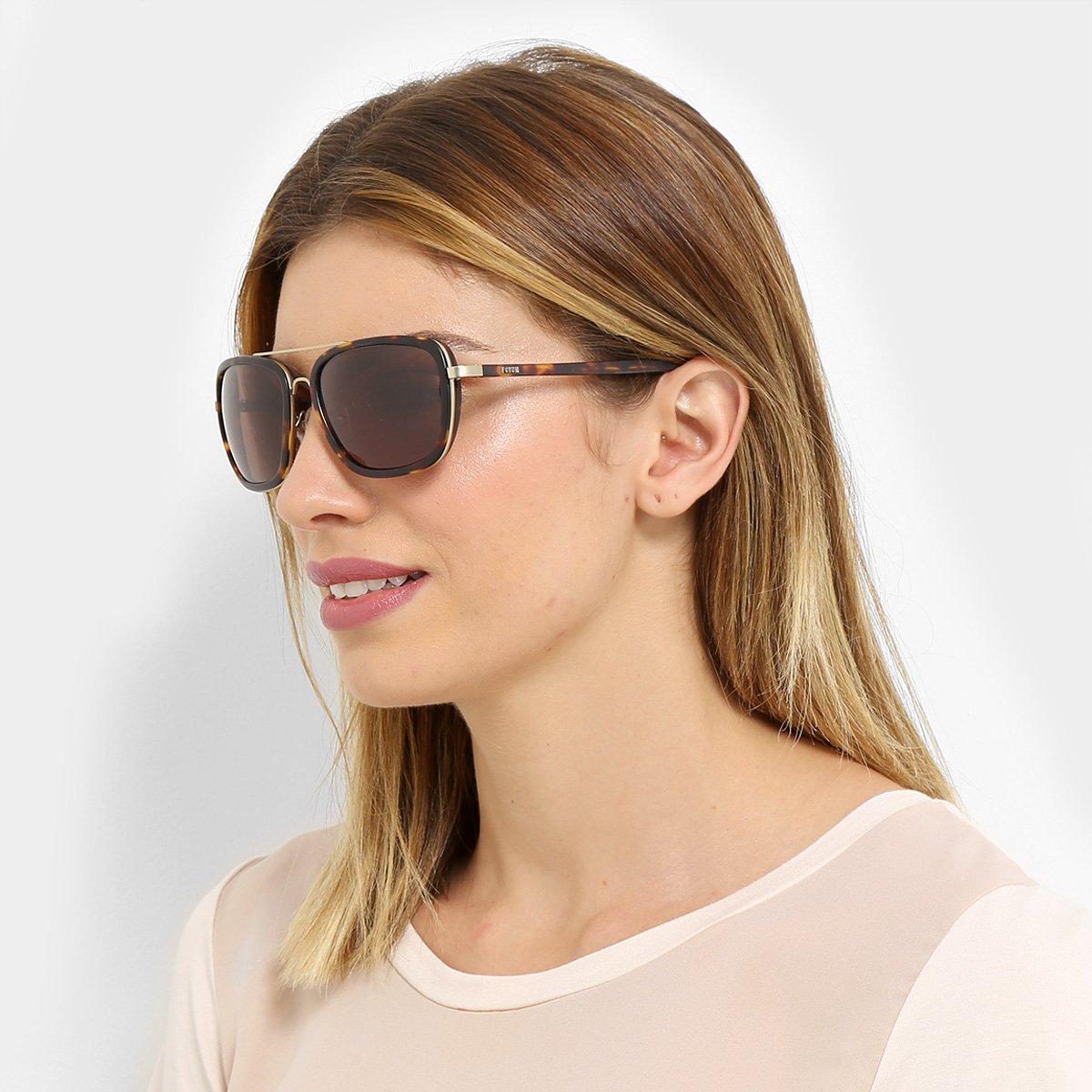1e10ab26399f5 Óculos de Sol De Sol Forum Feminino - Marrom - Compre Agora   Netshoes
