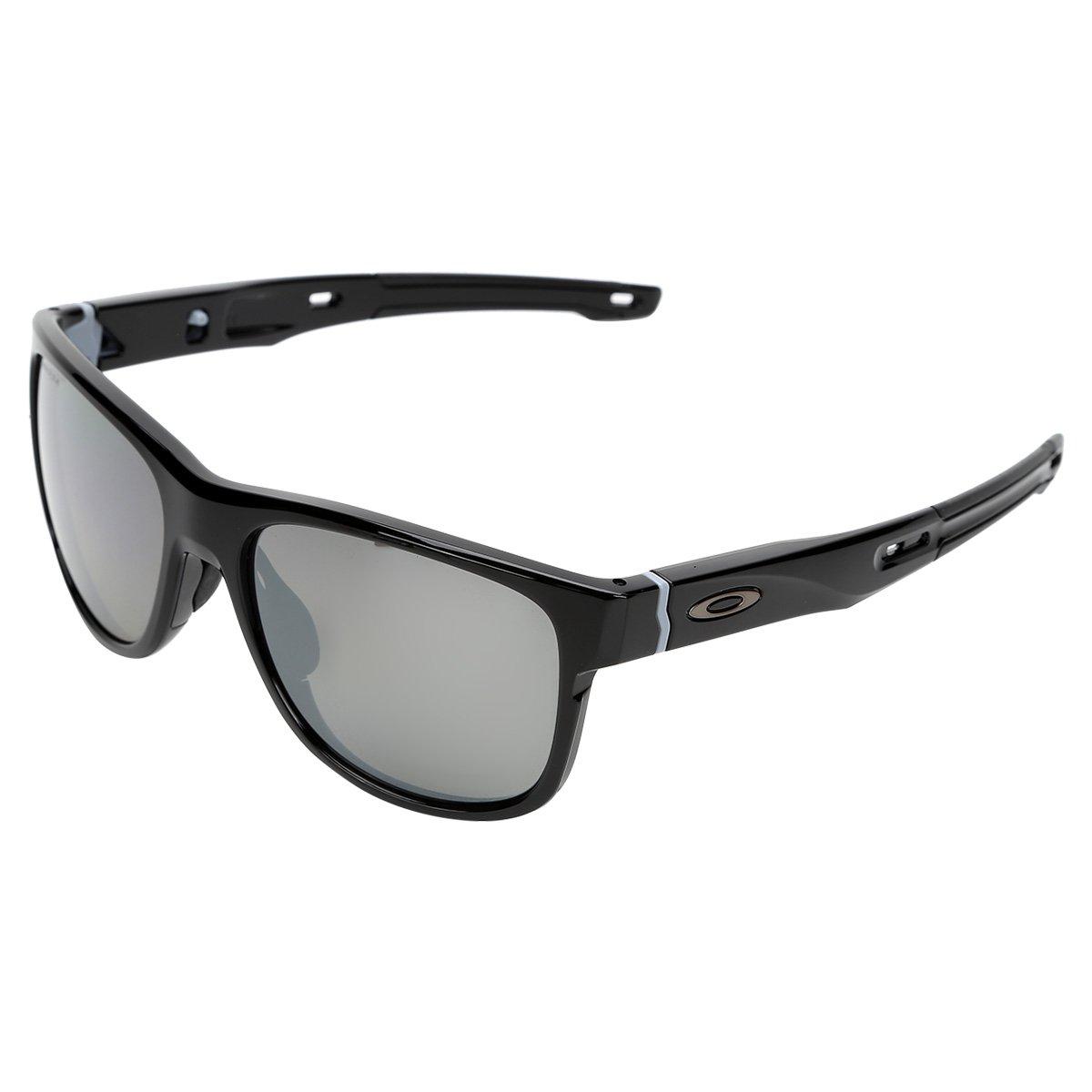 f3698eae2eb4f Óculos de Sol de Sol Oakley Crossrange R Masculino - Preto - Compre ...