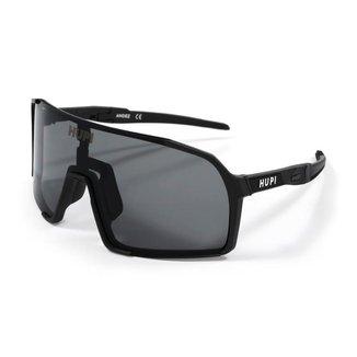 Óculos de Sol Esportivo HUPI Andez Ciclismo com Proteção UV Preto Lente Grafite