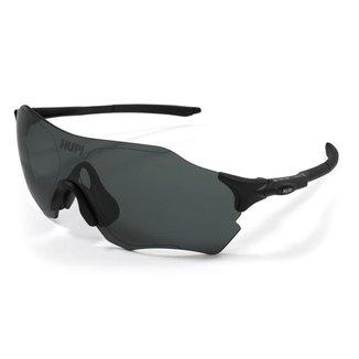 Óculos de Sol Esportivo HUPI Fuego Ciclismo e Corrida Proteção UV Preto Lente Preto