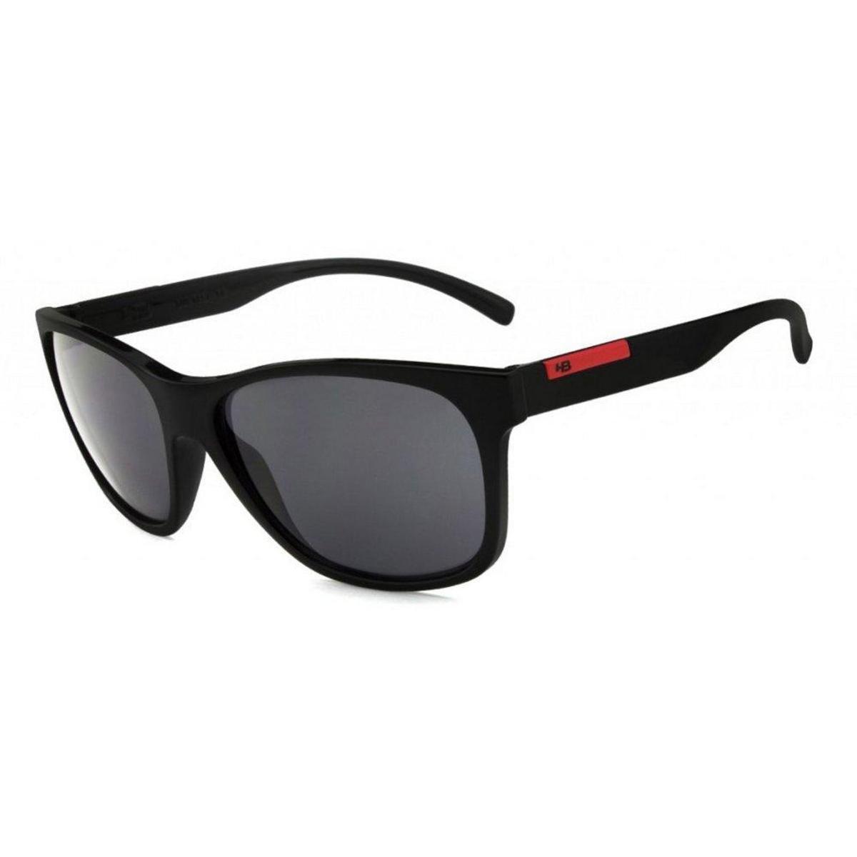 f18c595b795de Óculos de Sol HB Underground - Preto e Vermelho - Compre Agora ...
