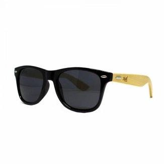 Óculos de Sol Hoshwear Bamboo Preto Brilho