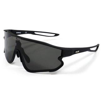 Óculos de Sol HUPI Bornio Preto Lente Preto Para Corrida e Ciclismo