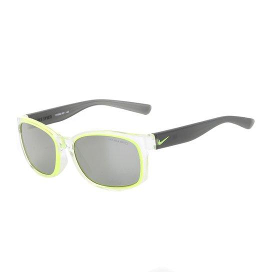 Óculos de Sol Juvenil Nike Spirit EV0886 907 - Branco+Verde