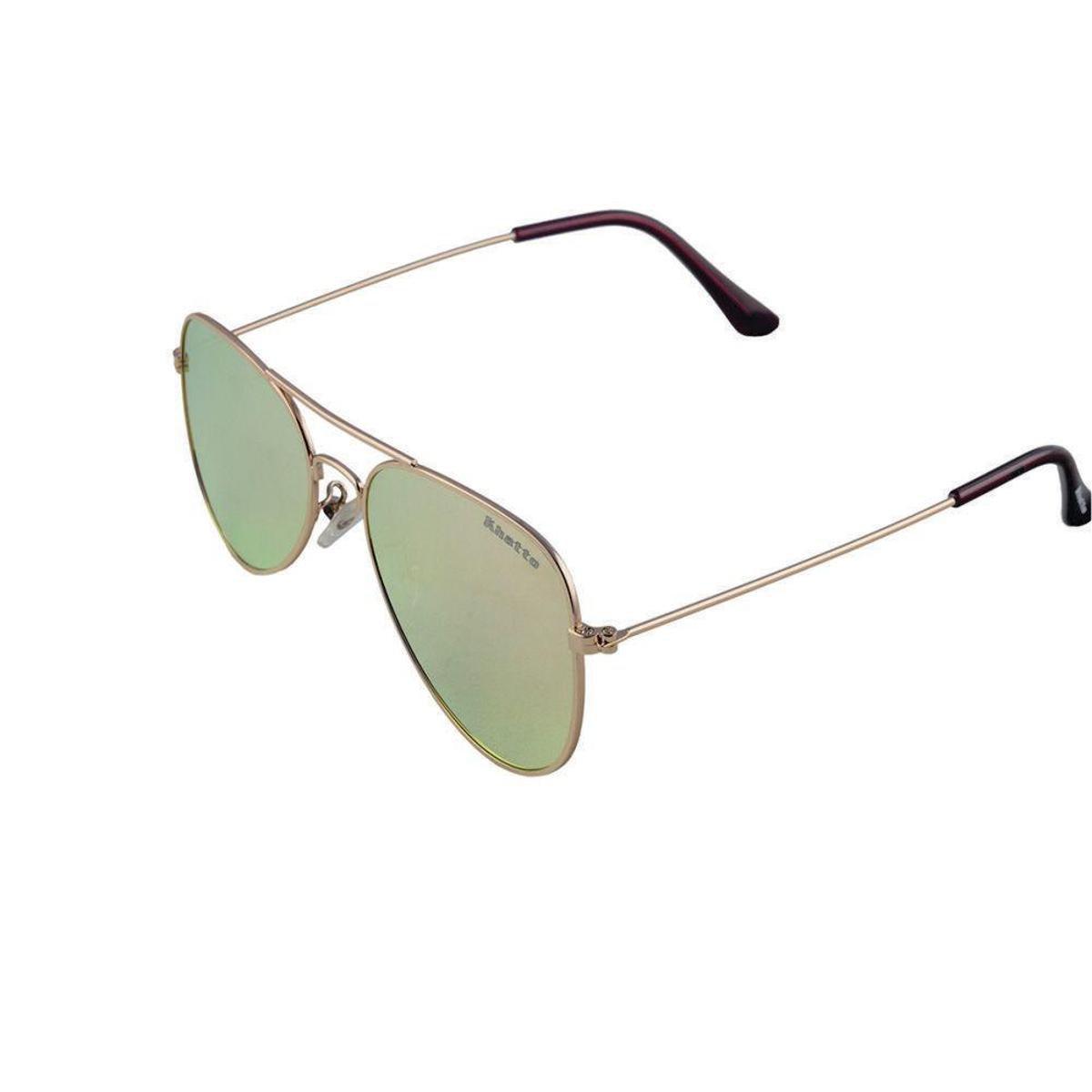 Óculos de Sol Khatto Aviador Station Masculino - Dourado - Compre ... a6dfacfd7c