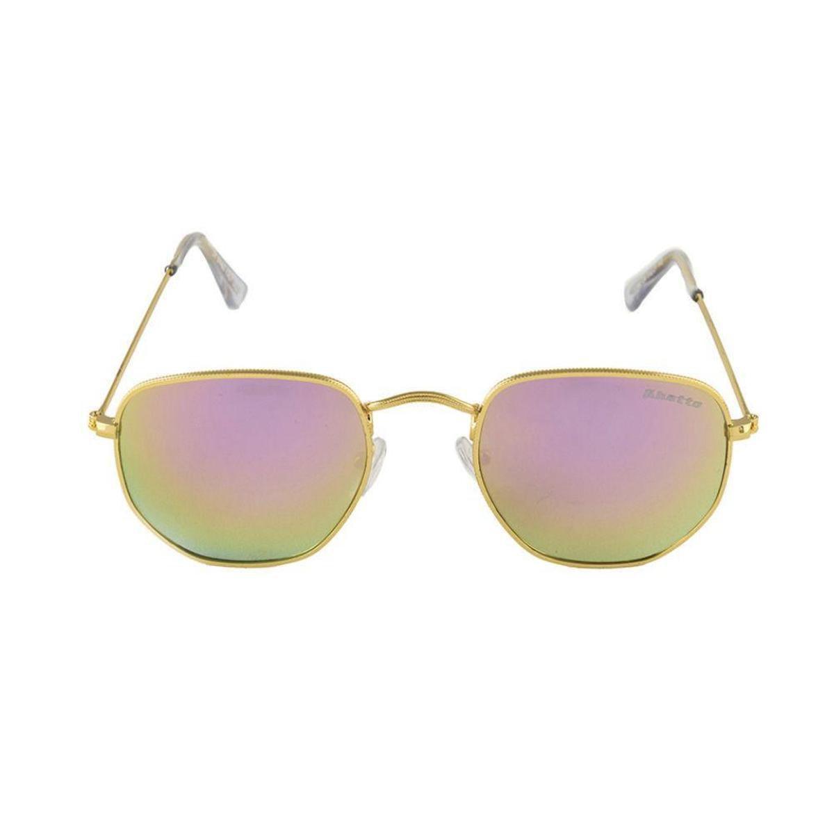 c58bedd5f03ec Óculos de Sol Khatto Fusion Round Masculino - Rosa e Dourado - Compre Agora