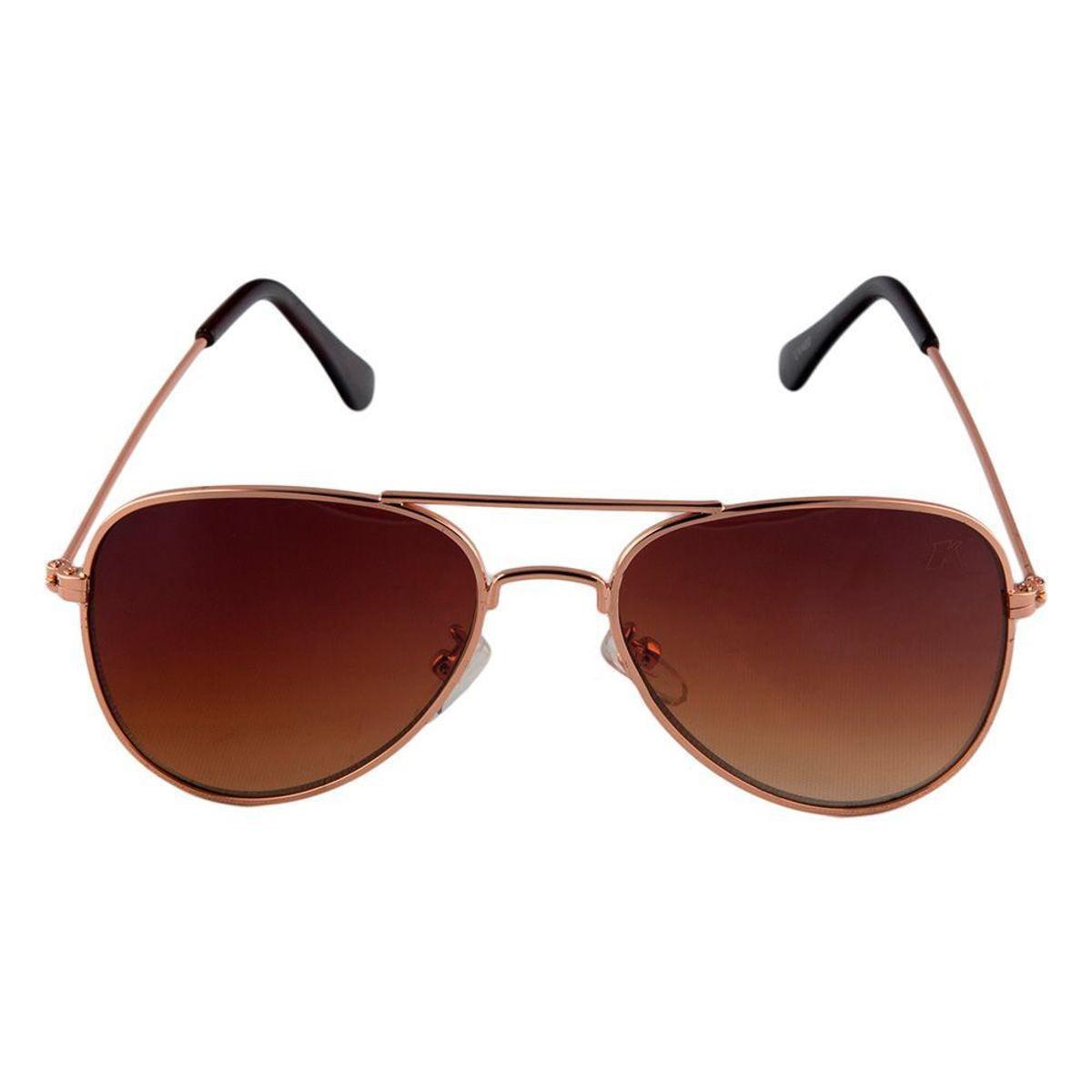 d80578b3ef15d Óculos de Sol Khatto Infantil Aviador Station Feminino - Marrom - Compre  Agora
