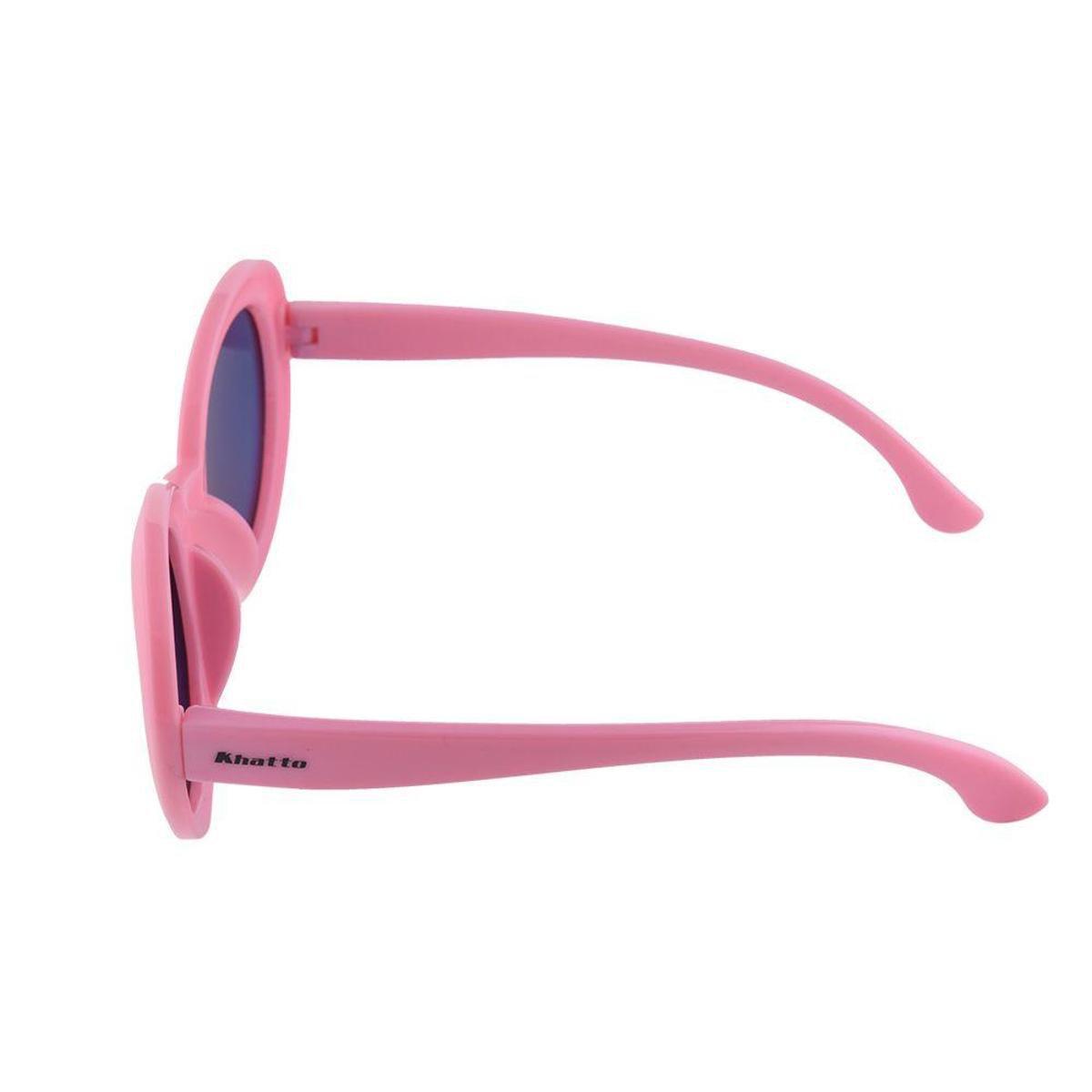 Óculos de Sol Khatto Infantil Bruninha Retrô Feminino - Rosa ... 3e559592e7