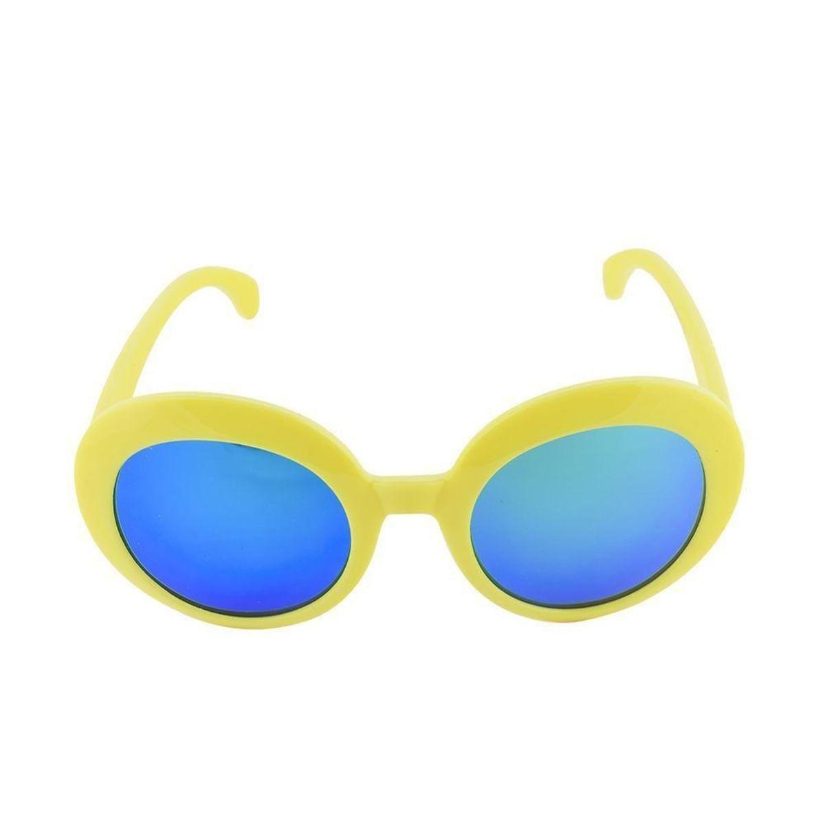 Óculos de Sol Khatto Infantil Bruninha Retrô Feminino - Amarelo ... 02dbe78298