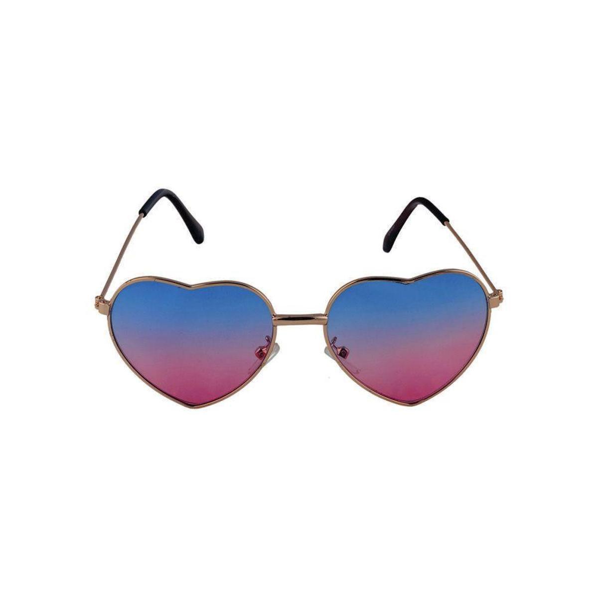 5c92dc7d37243 Óculos de Sol Khatto Infantil Love Feminino - Azul e Rosa - Compre Agora