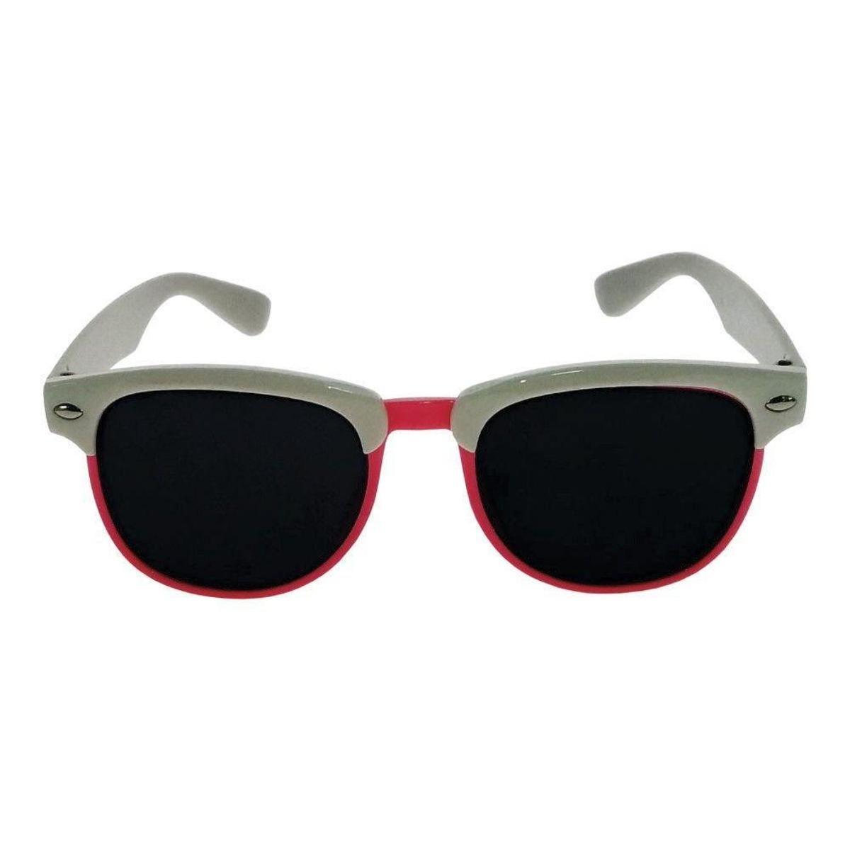 d234735132d08 Óculos de Sol Khatto Infantil Perussi Feminino - Branco e Rosa - Compre  Agora