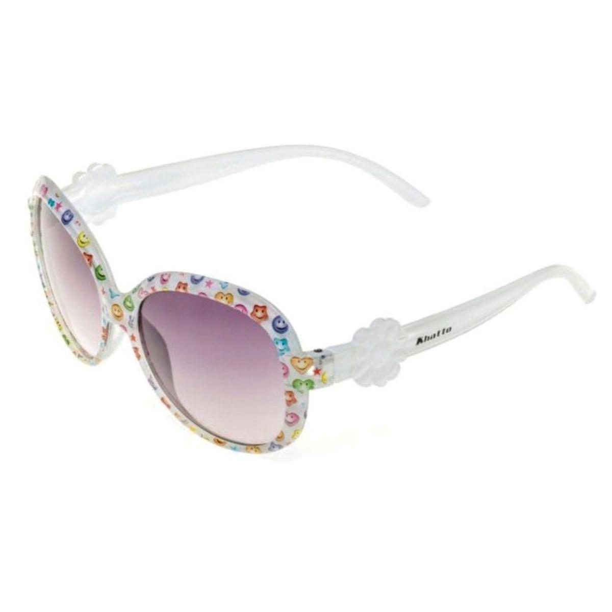 70bee8ee51564 Óculos de Sol Khatto Infantil Romantic Feminino - Branco - Compre ...