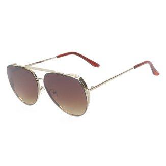 Óculos de Sol Khelf Aviador Metal MG1032 Feminino
