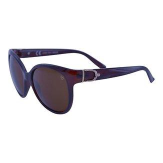 Óculos De Sol Mackage Feminino Acetato Gateado Over - Marrom