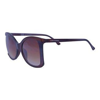 Óculos de Sol Mackage Feminino Acetato/metal Butterfly - Marrom/dourado