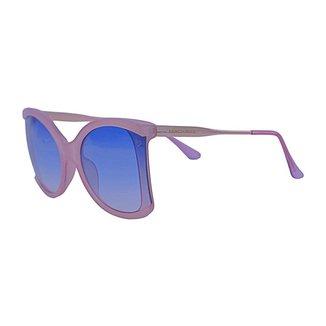 Óculos de Sol Mackage Feminino Acetato/metal Butterfly - Rosa/dourado