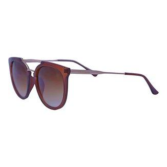 Óculos de Sol Mackage Feminino Acetato/metal Oval - Marrom/dourado