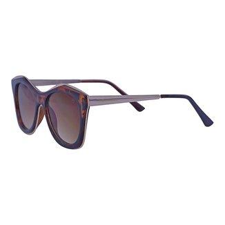 Óculos de Sol Mackage Feminino Acetato/metal Oval - Tartaruga/dourado