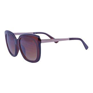 Óculos de Sol Mackage Feminino Acetato/metal Quadrado - Marrom/dourado
