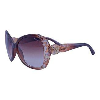 Óculos de Sol Mackage Feminino Butterfly Oversize - Marrom Cristal