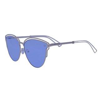 Óculos de Sol Mackage Feminino Metal Oversize Gateado - Prata