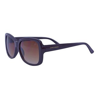 Óculos de Sol Mackage Feminino Retangular Retro - Marrom