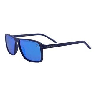 Óculos de Sol Mackage Masculino Acetato Retangular Esporte - Preto Fosco