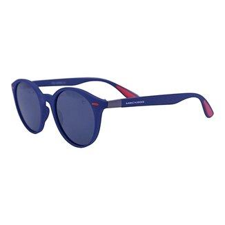 Óculos de Sol Mackage Masculino Acetato Wayfarer Redondo - Azul Polarizado